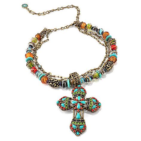 118-217 - Sweet Romance[ RetroMex Mayan Cross Necklace