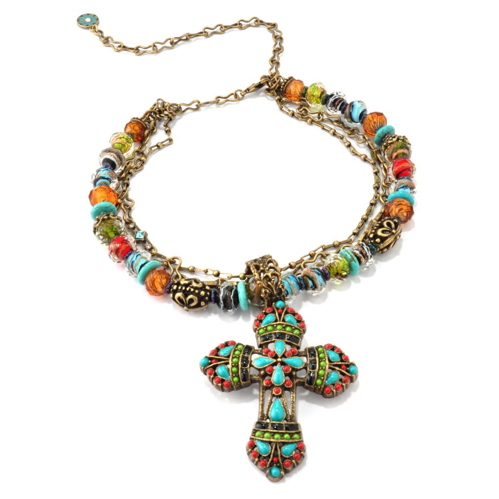 118-217 - Sweet Romance[ RetroMex Mayan Cross Necklace