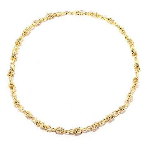 118-300 - Portofino Gold Embraced™ 20'' Textured Status Link Necklace