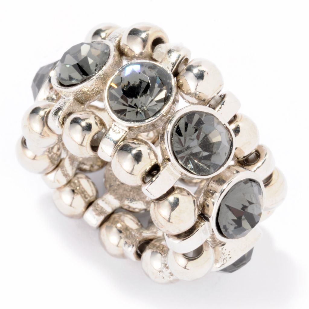 "118-327 - The Find Jewelry By Annie G. Rhinestone ""Enchanted"" Adjustable Ring"