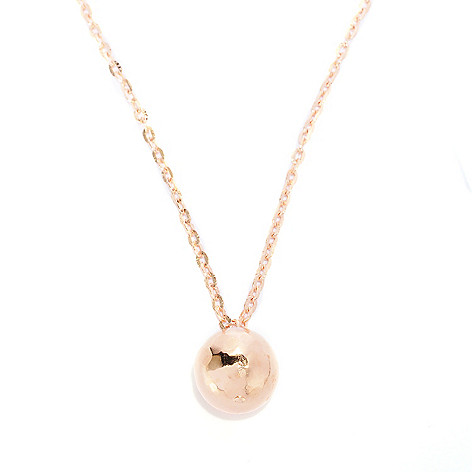 118-637 - Toscana Italiana Gold Embraced™ Martellato Bead Pendant w/ 36'' Chain