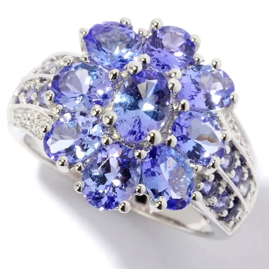 118-782 - NYC II 3.33ctw Morganite, Pink Sapphire & Diamond Flower Ring