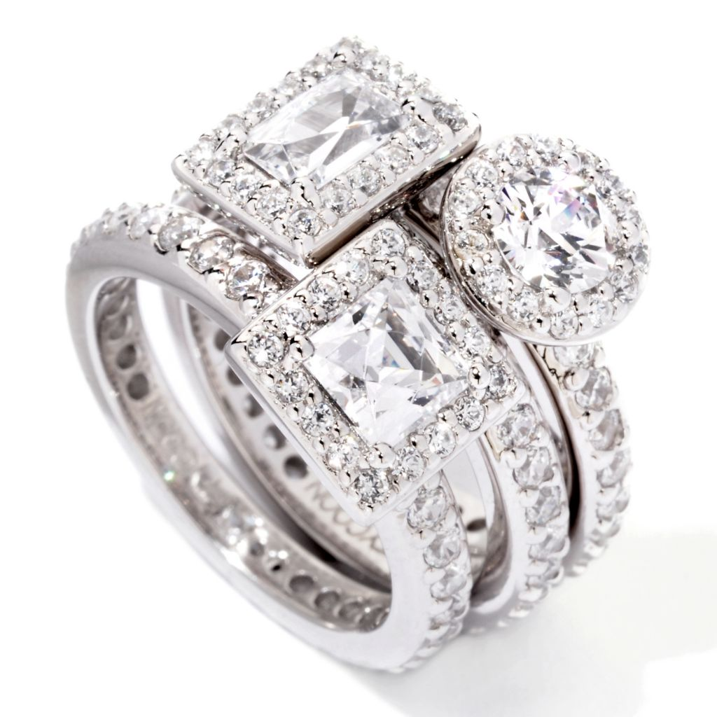 118-963 - TYCOON Three-Piece Multi-Shape Simulated Diamond Stack Ring Set