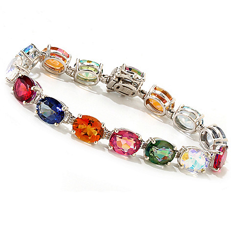 119-050 - NYC II™ 26.46ctw Oval Multi Color Quartz Tennis Bracelet