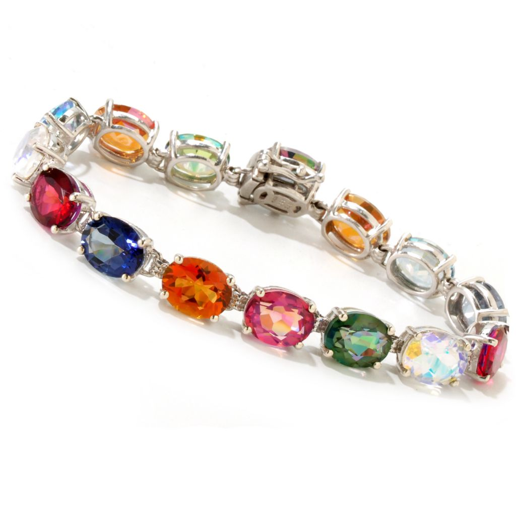 119-050 - NYC II Multi Color Quartz Tennis Bracelet