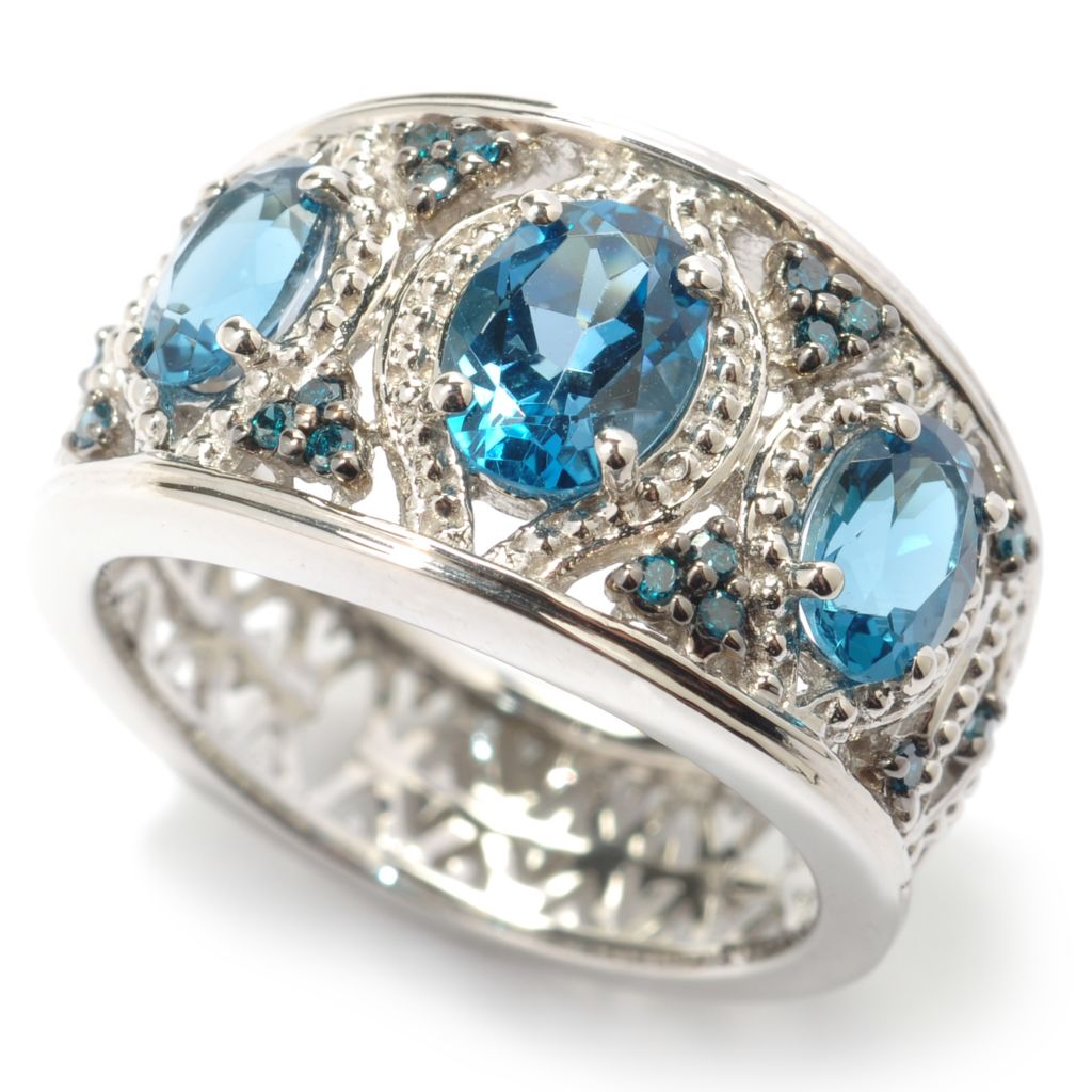 119-160 - NYC II 1.63ctw London Blue Topaz & Blue Diamond Ring