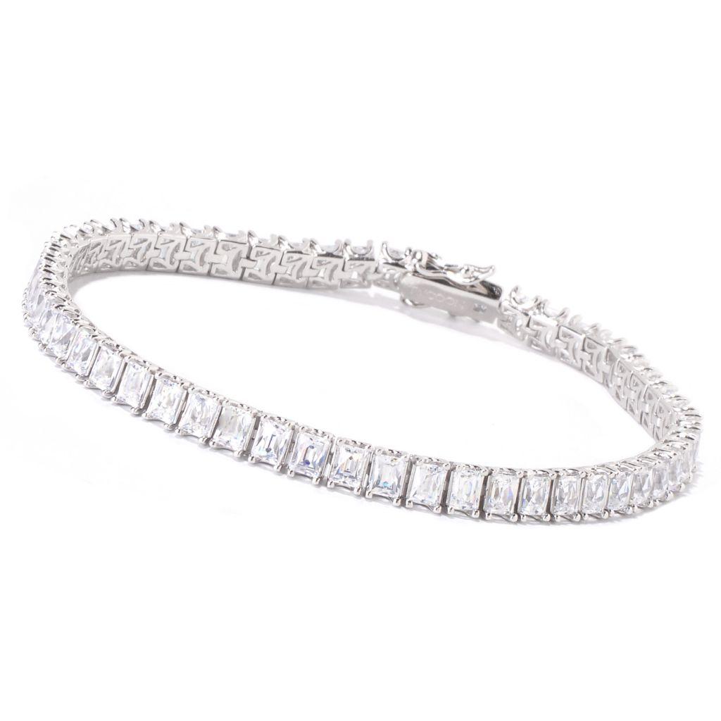 119-242 - TYCOON Platinum Embraced™ TYCOON CUT Simulated Diamond Tennis Bracelet
