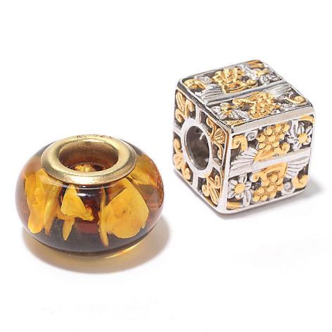 119-939 - Gems en Vogue Set of Two Slide-On Charms