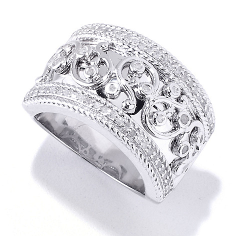 120-032 - Diamond Treasures 0.33ctw Diamond Overlay Band Ring