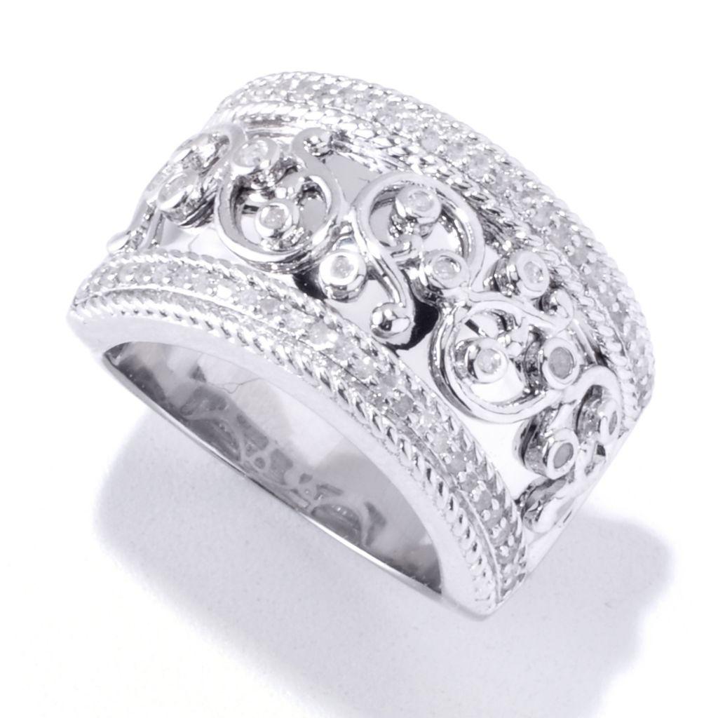 120-032 - Diamond Treasures 0.33ctw Diamond Overlay Band Ring
