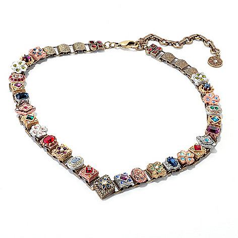 120-077 - Sweet Romance™ 16'' Crystal & Glass Book Chain Necklace w/ Extender