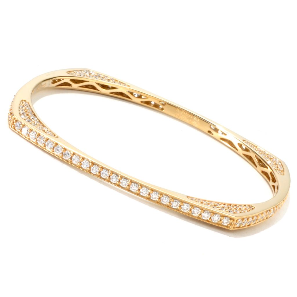 120-325 - Sonia Bitton 6.64 DEW Simulated Diamond Geometric Slip-On Bangle