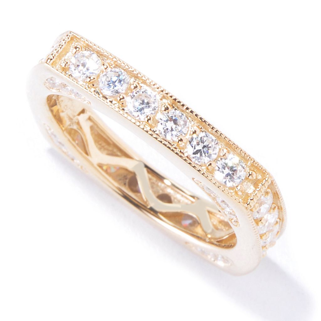 120-348 - Sonia Bitton 1.46 DEW Simulated Diamond Square Ring
