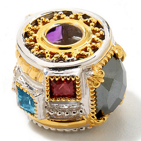 120-541 - Gems en Vogue II 2.54ctw Multi Gemstone ''Manhattan'' Charm