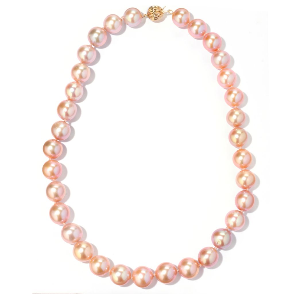 "120-748 - 14K Gold 18"" 12-13mm Freshwater Cultured Pearl Necklace"