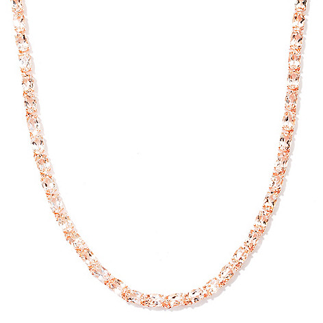 120-886 - NYC II™ 21.70ctw Morganite Tennis Necklace