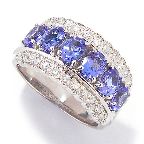 121-042 - NYC II 2.35ctw Tanzanite & White Zircon Band Ring