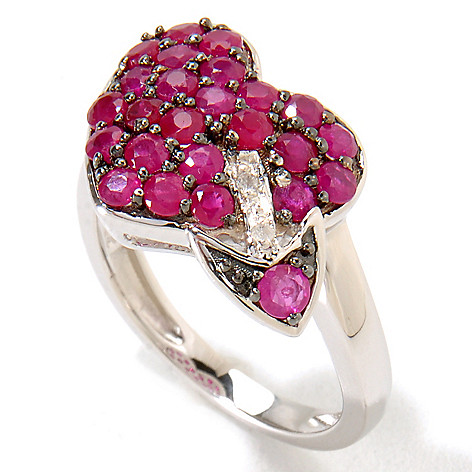 121-127 - NYC II 1.67ctw Ruby & Diamond Pave Heart Ring