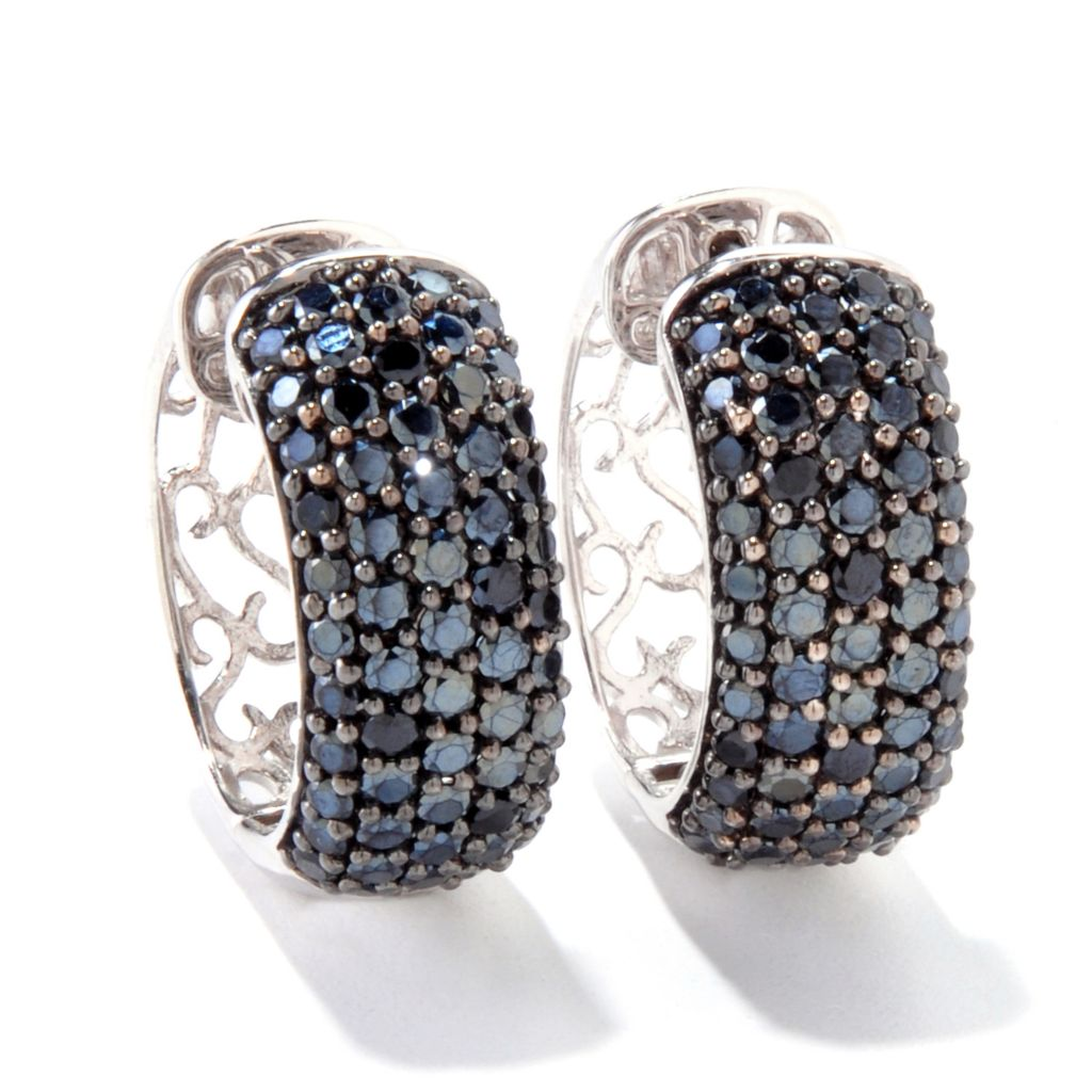 121-141 - Gem Treasures Sterling Silver 4.33ctw Spinel Huggie Hoop Earrings
