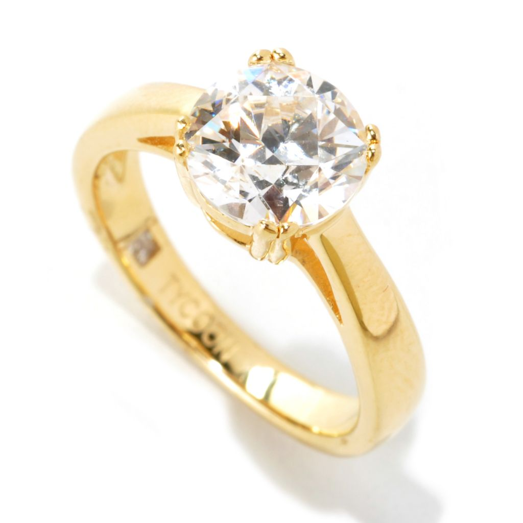 121-152 - TYCOON Four-Prong Simulated Diamond Solitaire Ring
