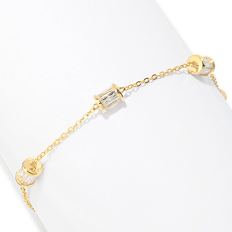 121-159 - TYCOON Platinum Embraced™ 7'' 3.86 DEW Simulated Diamond Rondelle Bracelet