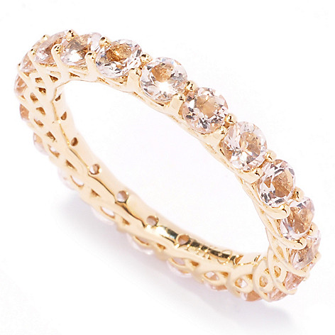 121-183 - Gem Treasures 14K Gold Morganite Eternity Band Ring