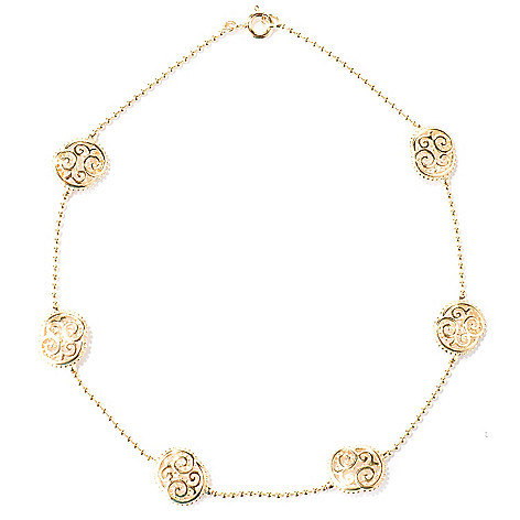 121-314 - Jaipur Bazaar Gold Embraced™ Ornate Station Anklet