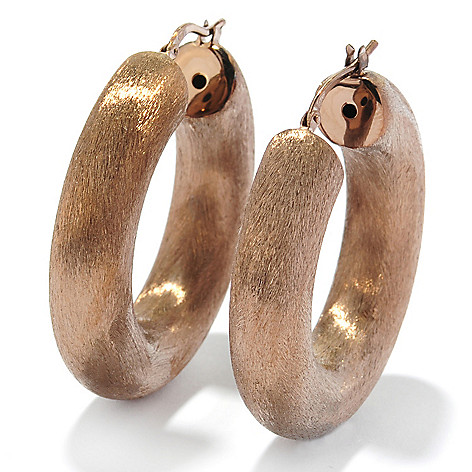 121-337 - Portofino Gold Embraced™ 1.25'' Brushed & Satin Finished Hoop Earrings