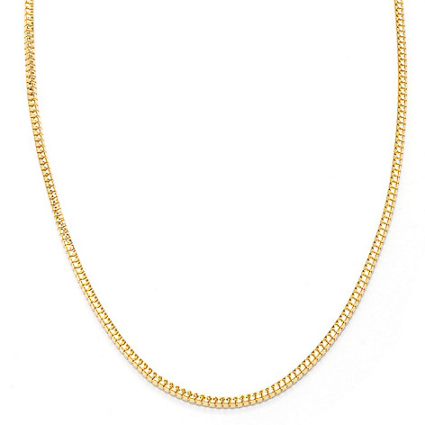 121-343 - Portofino 18K Gold Embraced™ 24'' Polished Snake Chain Necklace