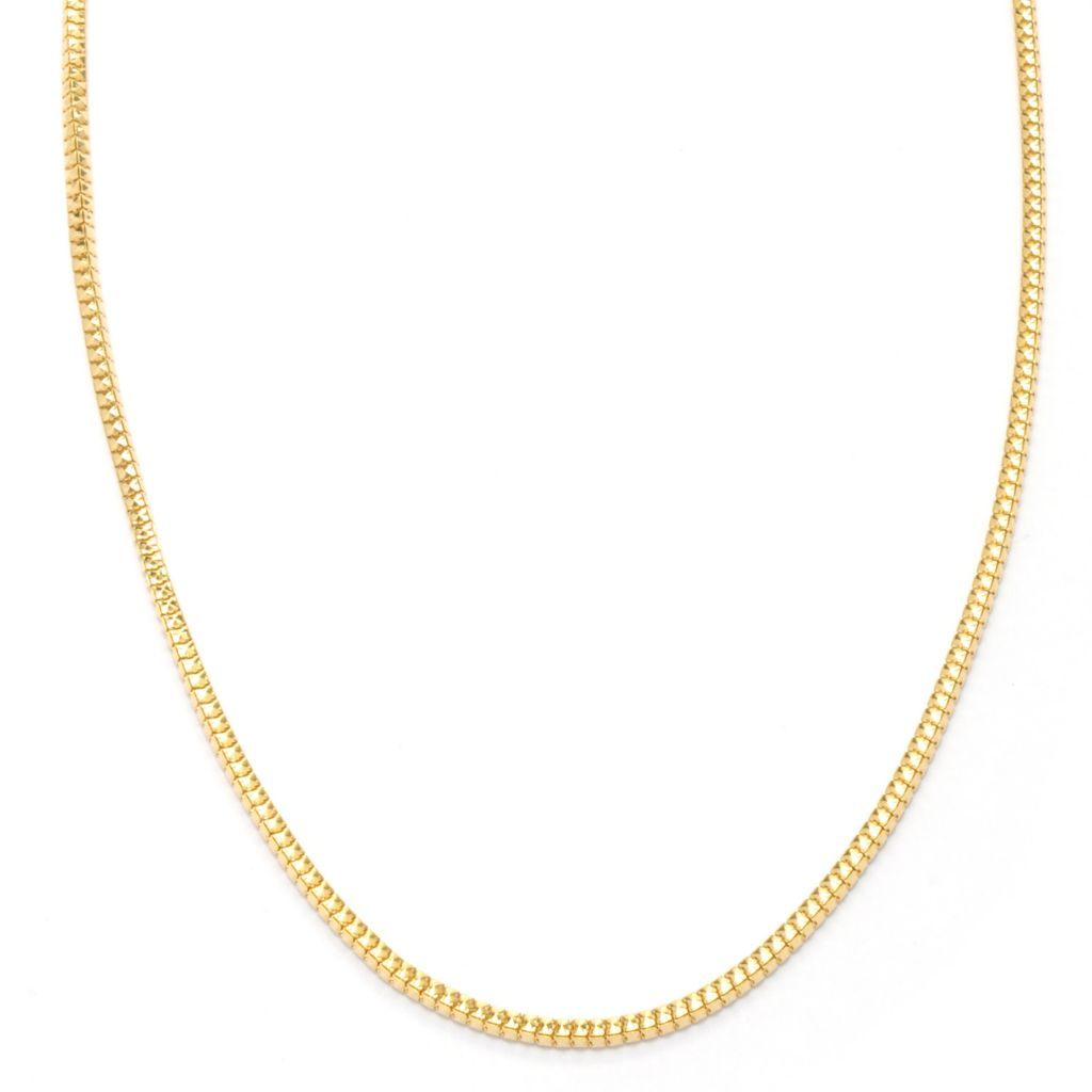 "121-343 - Portofino 18K Gold Embraced™ 24"" Polished Snake Chain Necklace"