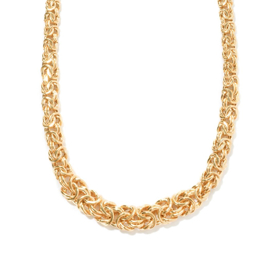 "121-345 - Portofino Gold Embraced™ 20"" Polished Byzantine Link Necklace"