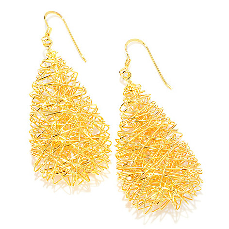 121-351 - Portofino Gold Embraced™ Wire Wrapped Polished Teardrop Earrings