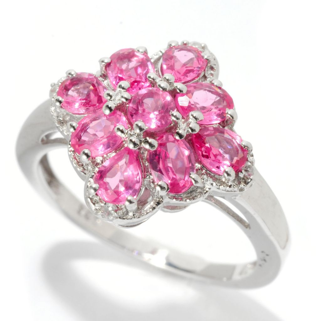121-368 - NYC II 1.35ctw Pink Spinel & White Zircon Ring