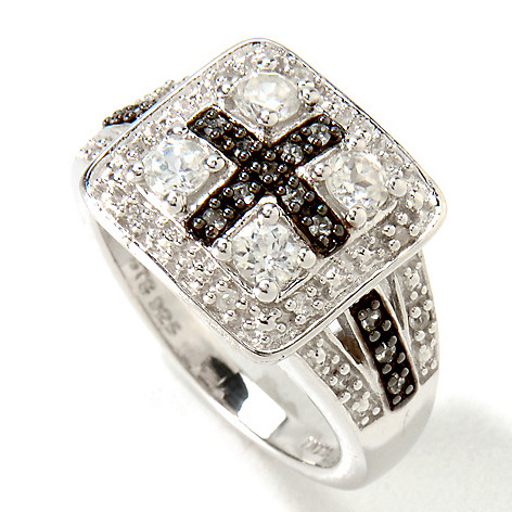 121-481 - NYC II White Zircon Cross Ring