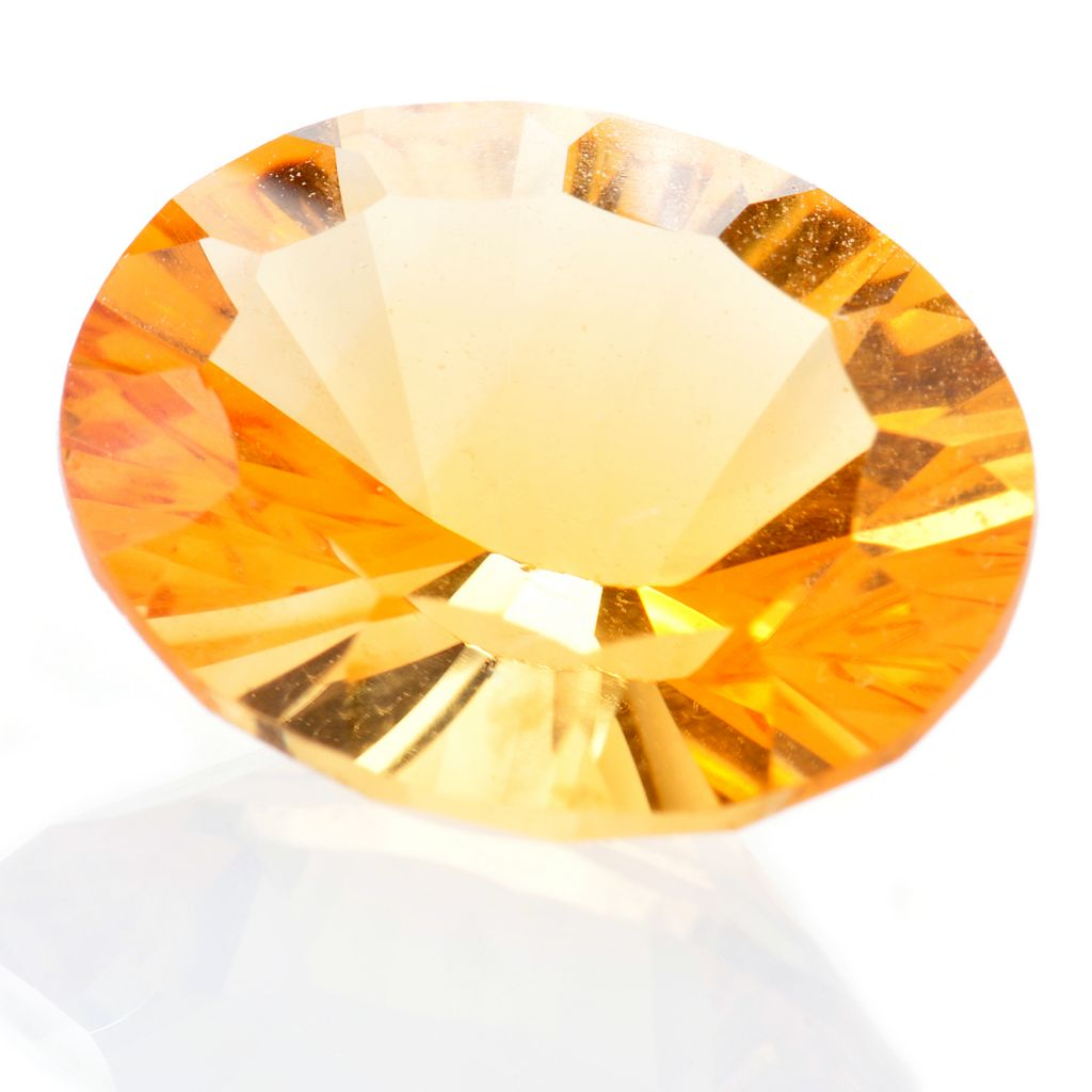 121-500 - Gem Insider 3.45ctw Fancy Cut 12 x 10mm Citrine Loose Stone