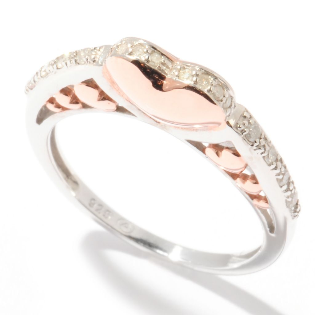 121-522 - Beverly Hills Elegance 0.12ctw Diamond Heart Ring