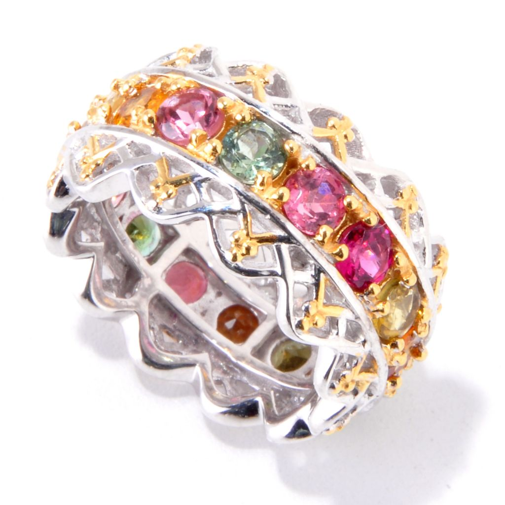 121-771 - Gems en Vogue II 2.70ctw Multi Color Tourmaline Eternity Band Ring