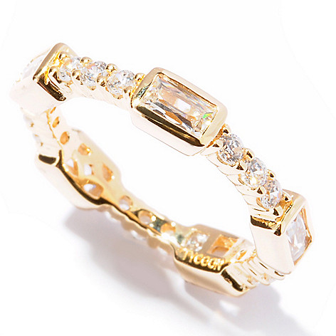 121-797 - TYCOON 1.32 DEW Rectangle & Round Simulated Diamond Eternity Band Ring