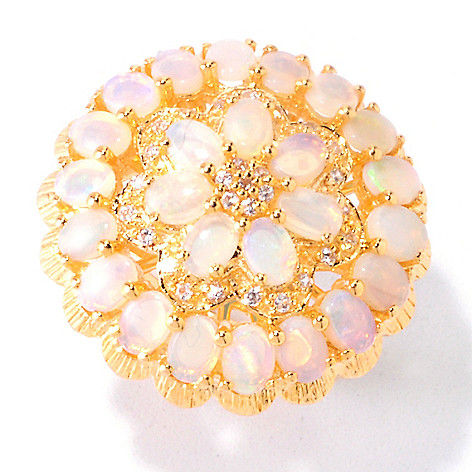 121-904 - NYC II 3.01ctw Opal & White Zircon Ring