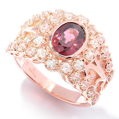 121-966 - NYC II 2.84ctw Raspberry & White Zircon Ring