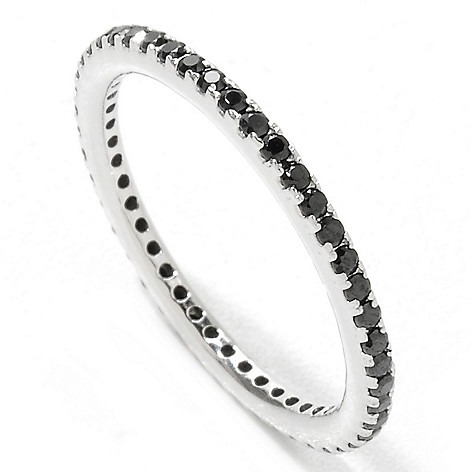 121-969 - Brilliante® Platinum Embraced™ Small Round Cut Simulated Diamond Eternity Band Ring