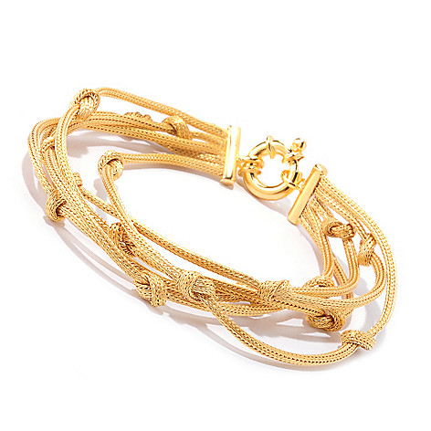 122-055 - Portofino Gold Embraced™ Five-Strand Knotted Bracelet
