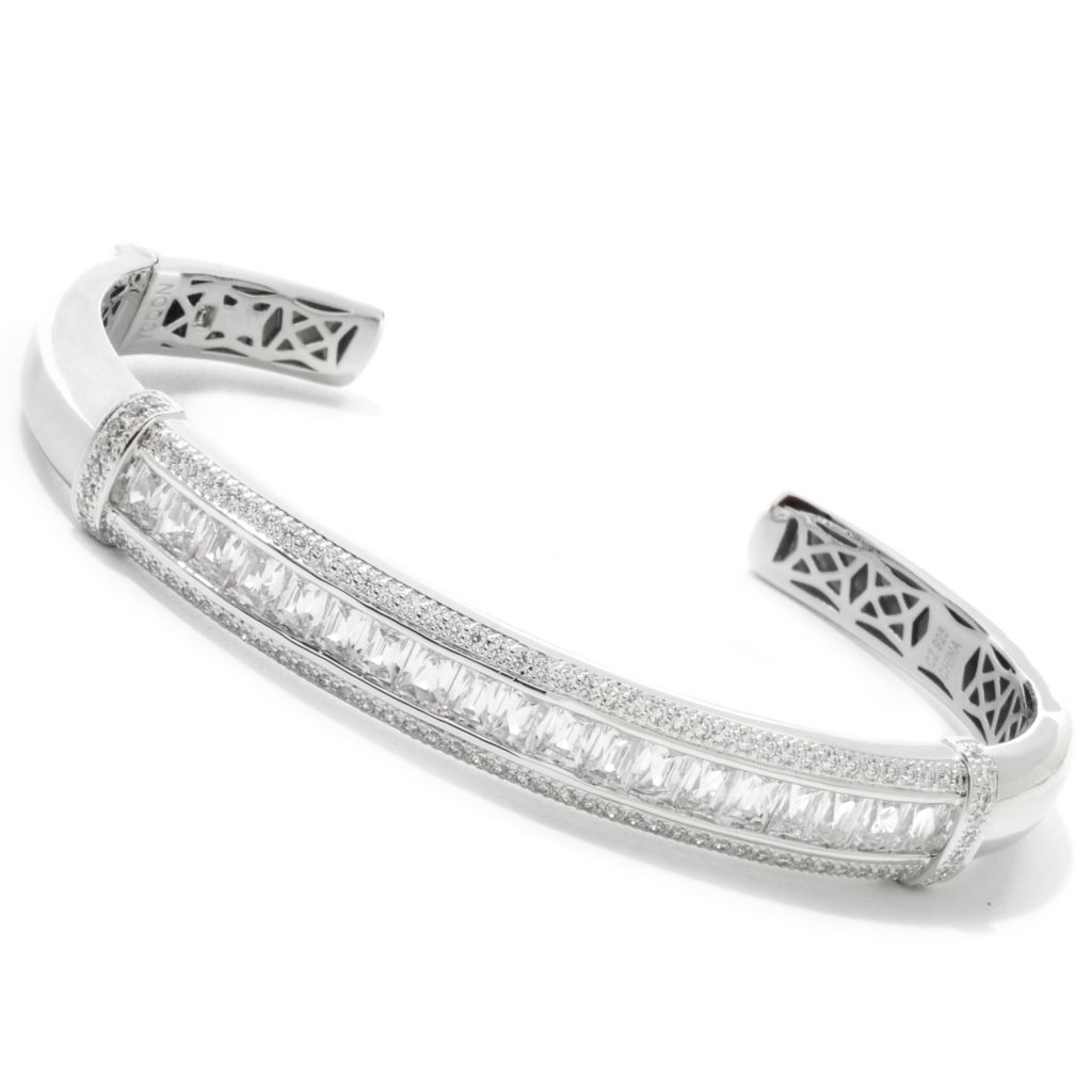 122-072 - TYCOON Platinum Embraced™ 4.78 DEW Simulated Diamond Cuff Bracelet