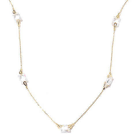 122-079 - TYCOON 18'' 6.32 DEW TYCOON CUT Simulated Diamond Station Necklace