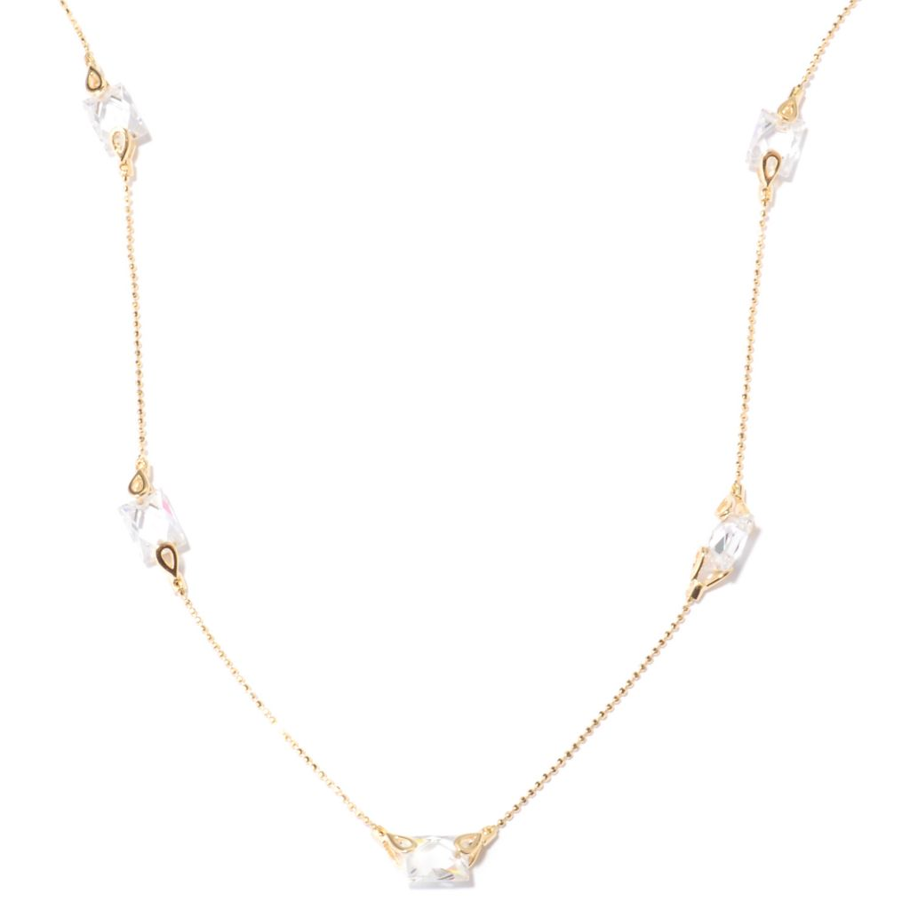 "122-079 - TYCOON 18"" 6.32 DEW TYCOON CUT Simulated Diamond Station Necklace"