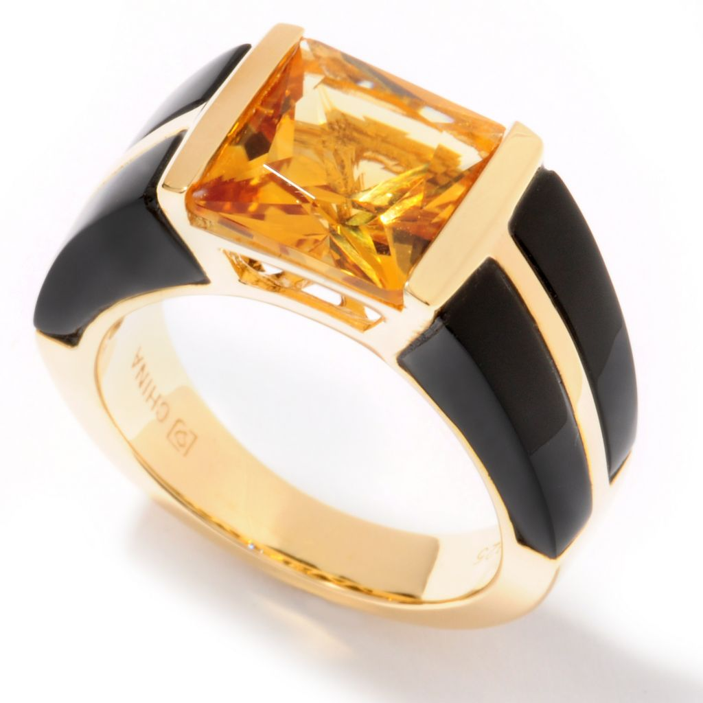 122-160 - Omar Torres Princess Cut & Opaque Multi Gemstone Band Ring
