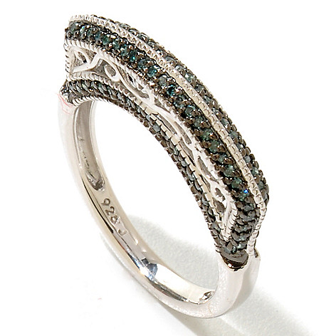 122-182 - Sterling Silver 0.33ctw Diamond Stacker Band Ring