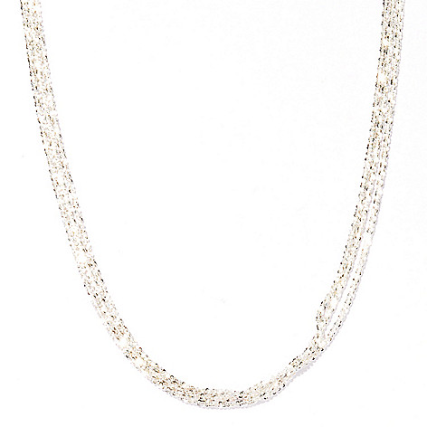 122-192 - SempreSilver® Three-Strand Margherita Necklace