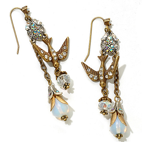 122-224 - Sweet Romance™ 2.75'' Paris Love Mementos Dangle Earrings