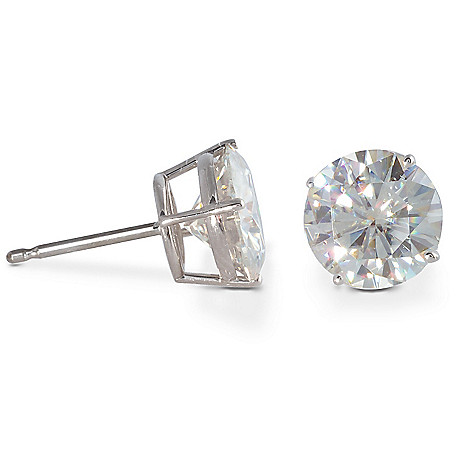 122-761 - 14K White or Yellow Gold 0.46ct DEW Moissanite Stud Earrings
